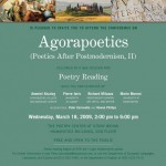 Agorapoetics conference Flyer