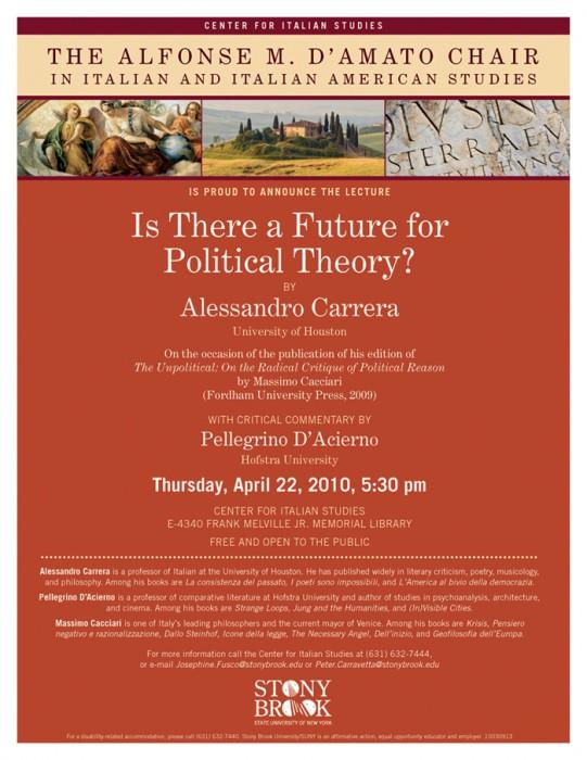 Alessandro Carrera: Future of Political Theory