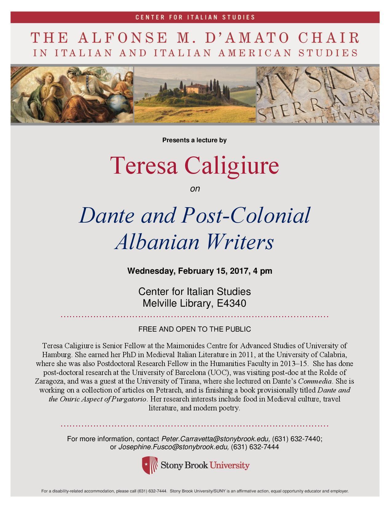 Feb. 2017_Caligiure lecture on Dante & Albanian Writers Feb 15-page-001
