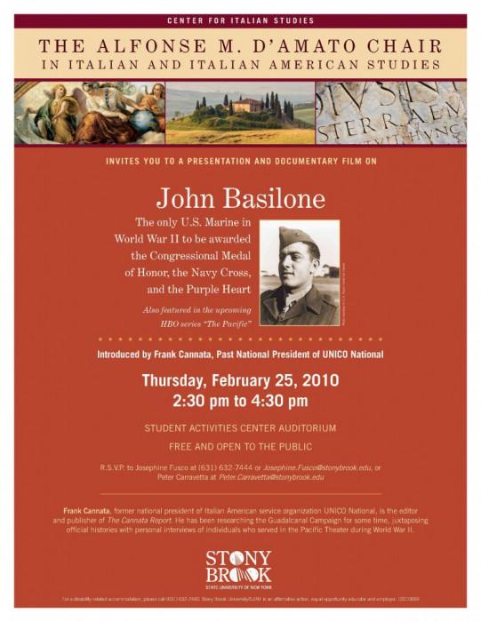 Frank Cannata: Film About John Basilone