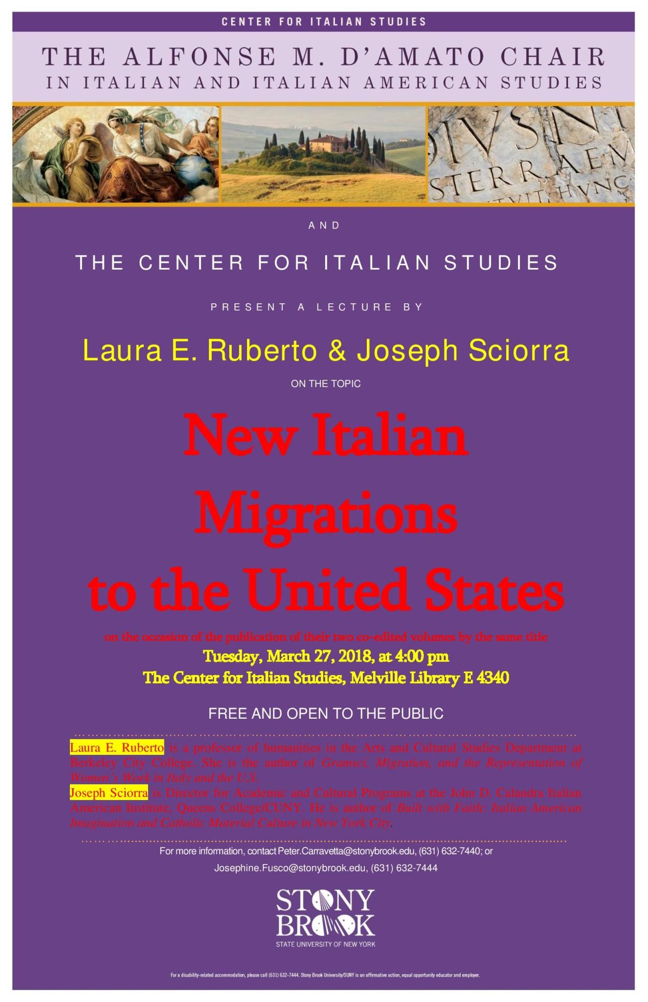 Mar. 2018_D Amato lecture flyer for Ruberto & Sciorra Talk, March 27, 2018-page-001