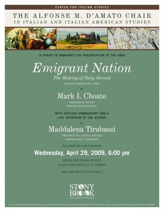 Mark Choate: Emigrant nation