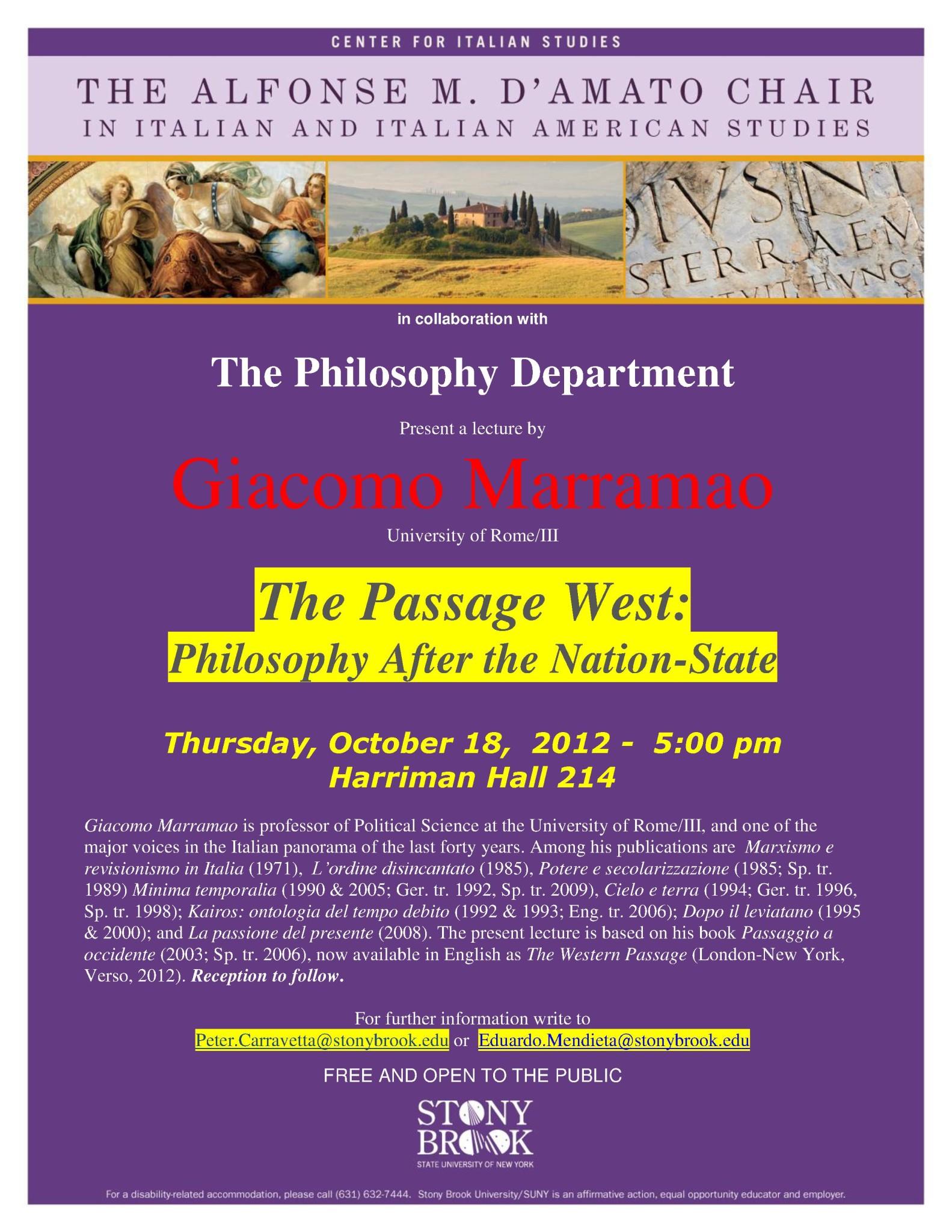 Marramao lecture Oct 18