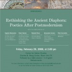 Rethinking theAncient Diaphora conference flyer1