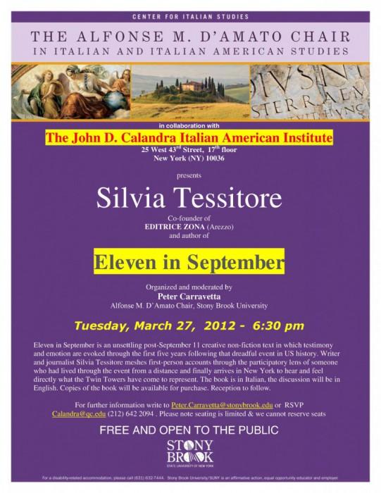 Silvia Tessitore: Eleven in September