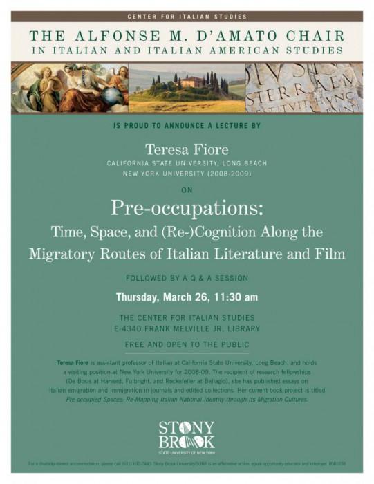 Teresa Fiore: Pre-Occupations