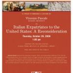 Vincenzo Pascale: Italian Expatriates